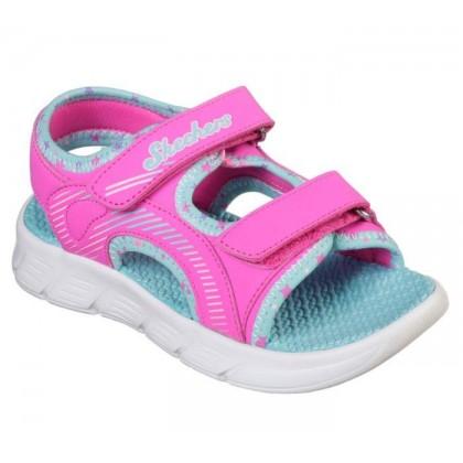 Hot Pink/Multi - Girls' C-Flex Sandal - Star Zoom
