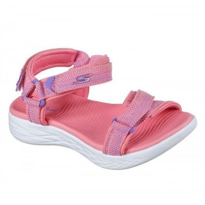 Coral - Girls' Skechers On the GO 600 - Lil Radiance
