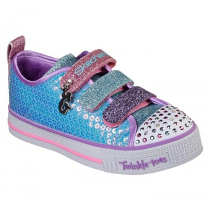 Girls' Twinkle Toes: Twinkle Lite - Mermaid Magic - Turquoise/Multi Energy Lights Shoes by Skechers