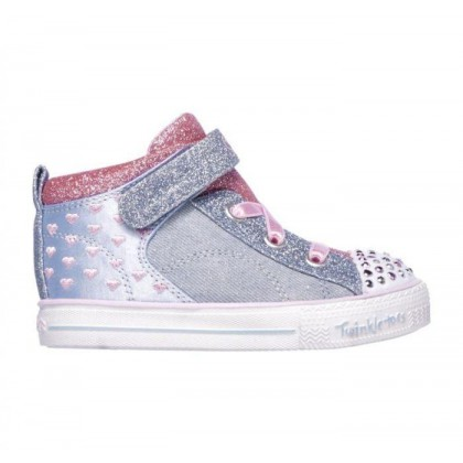 Light Blue/Pink - Infant Girls' Twinkle Toes: Shuffle Lite - Dainty Denims