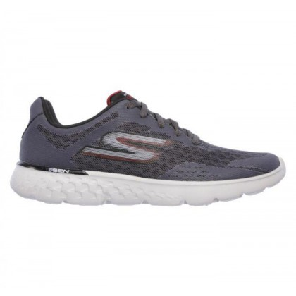 Charcoal/Red - Men's Skechers GOrun 400 - Disperse
