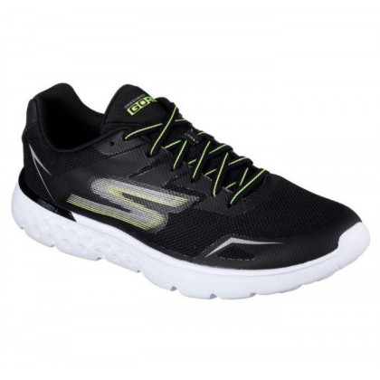 Men's Skechers GOrun 400 - Disperse - Black Lime Mens Shoes by Skechers