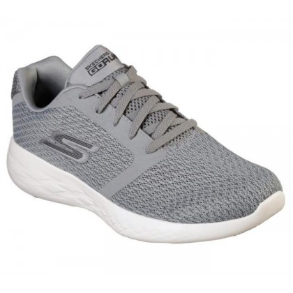 Grey/Black - Men's Skechers GOrun 600 - Circulate