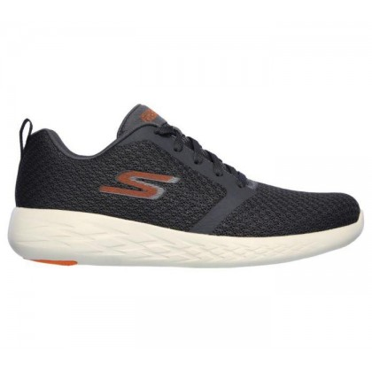 Charcoal Orange - Men's Skechers GOrun 600 - Circulate Wide Fit