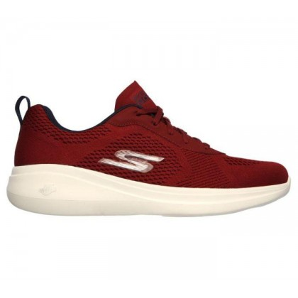 Burgundy - Men's Skechers GOrun Fast - Quake