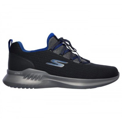 Charcoal/Blue - Men's Skechers GOrun Mojo 2.0 - Lucite