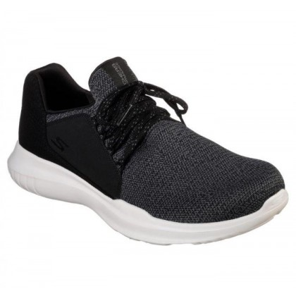 Black/White - Men's Skechers GOrun Mojo - Inspirate