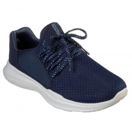 Navy - Men's Skechers GOrun Mojo - Thrust