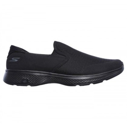 Black/Black - Men's Skechers GOwalk 4 - Contain