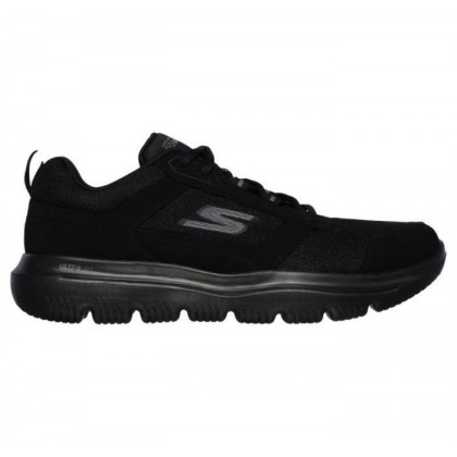 Black/Black - Men's Skechers GOwalk Evolution Ultra - Enhance