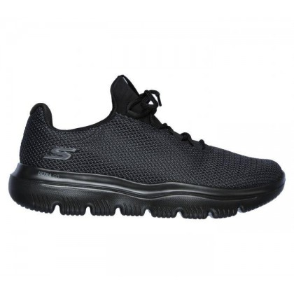 Black/Black - Men's Skechers GOwalk Evolution Ultra - Initiate