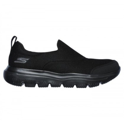 Black/Black - Men's Skechers GOwalk Evolution Ultra - Rapids