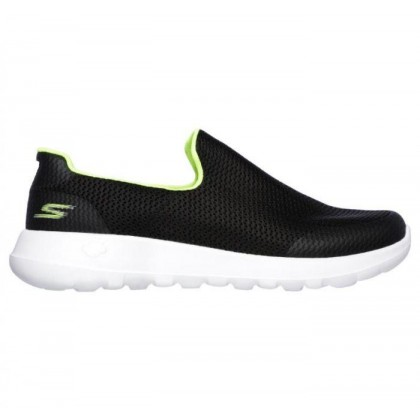 Black/Lime - Men's Skechers GOwalk Max - Focal
