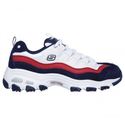 White/Navy/Red - Women's D'Lites - Sure Thing