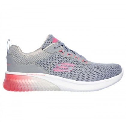 Light Grey/Hot Pink - Women's Skech-Air Ultra Flex