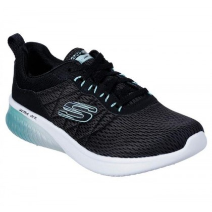 Black/Aqua - Women's Skech-Air Ultra Flex