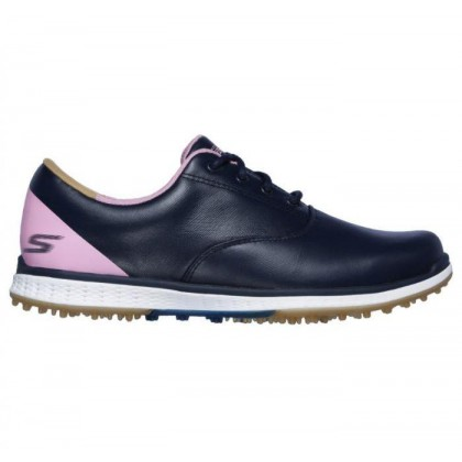 Navy/Pink - Women's Skechers GO GOLF Elite V.2 - Adjust