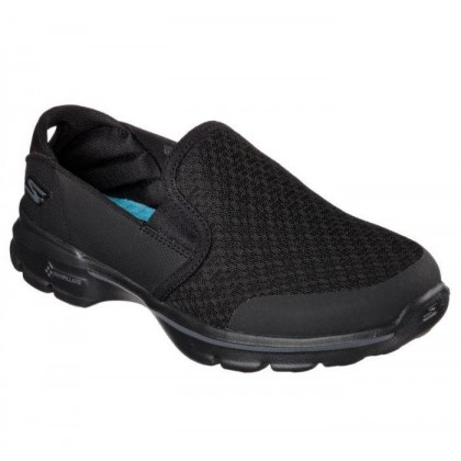 Black/Black - Women's Skechers GOwalk 3