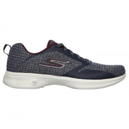 Charcoal/Burgundy - Women's Skechers GOwalk 4  - Desire