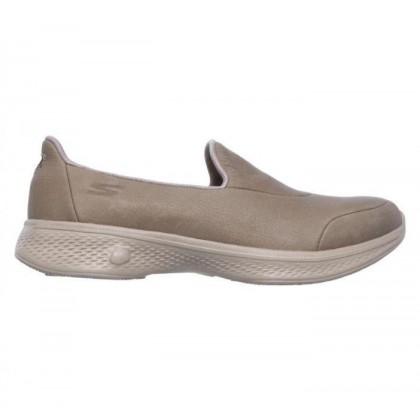 Taupe - Women's Skechers GOwalk 4 - Desired