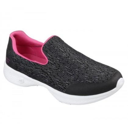 Black/Hot Pink - Women's Skechers GOwalk 4 - Exuberance