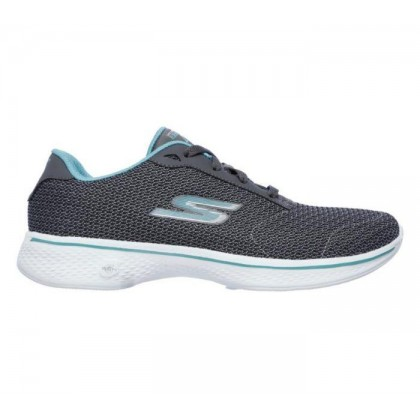 Charcoal Turquoise - Women's Skechers GOwalk 4 - Glorify