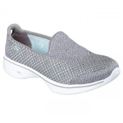 Grey - Women's Skechers GOwalk 4 - Kindle