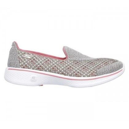 Taupe/Coral - Women's Skechers GOwalk 4 - Kindle
