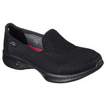 Black/Black - Women's Skechers GOwalk 4 - Propel Wide Fit