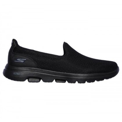 Black/Black - Women's Skechers GOwalk 5