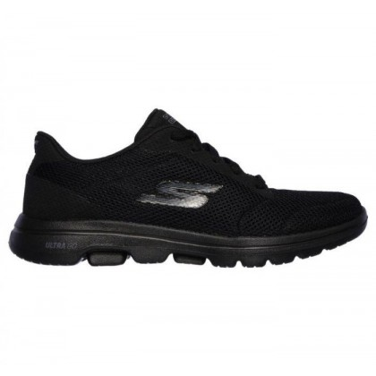 Black/Black - Women's Skechers GOwalk 5 - Lucky