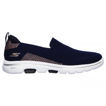 Navy - Women's Skechers GOwalk 5 - Prized