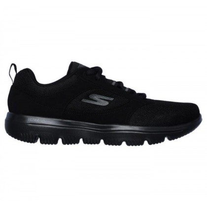 Black/Black - Women's Skechers GOwalk Evolution Ultra - Enhance
