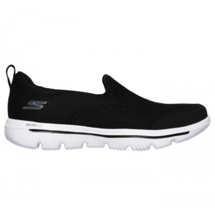 Black/White - Women's Skechers GOwalk Evolution Ultra - Reach