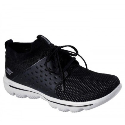 Black/Grey - Women's Skechers GOwalk Evolution Ultra - Turbo