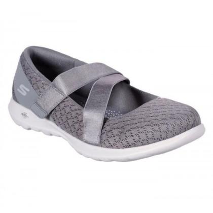 Grey - Women's Skechers GOwalk Lite - Divine