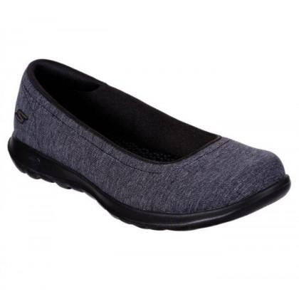 Black/Grey - Women's Skechers GOwalk Lite - Endear
