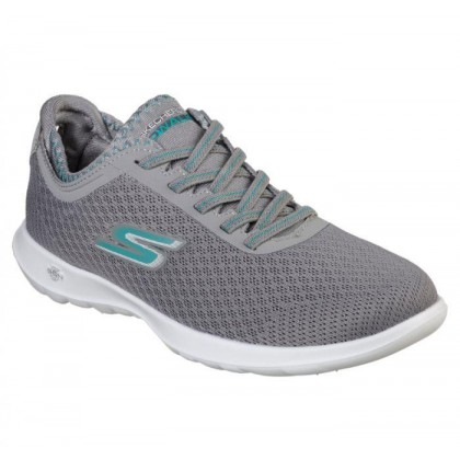Charcoal Turquoise - Women's Skechers GOwalk Lite - Impulse