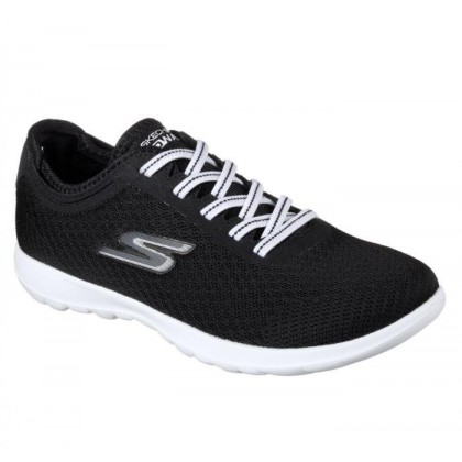 Black/White - Women's Skechers GOwalk Lite - Impulse