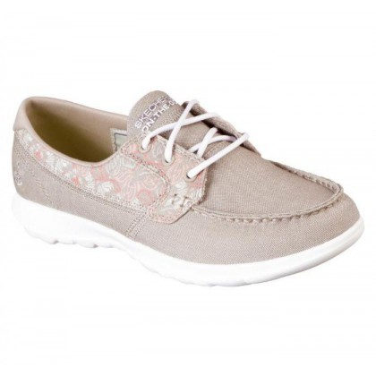 Taupe - Women's Skechers GOwalk Lite - Theia