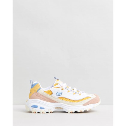 D'Lites - Second Chance White & Yellow by Skechers