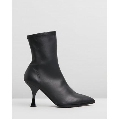 Zane Black Stretch Leather by Skin