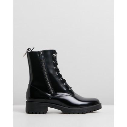 Dawson Black Leather by Skin