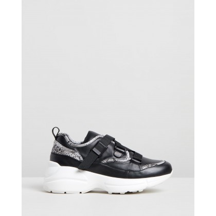 Kane Sneakers Black Snake by Sol Sana
