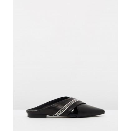 Zip Flats Black by Sol Sana