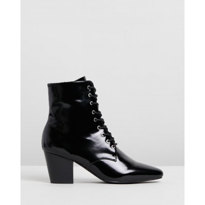 Eleanor II Boots Gloss Black by Sol Sana