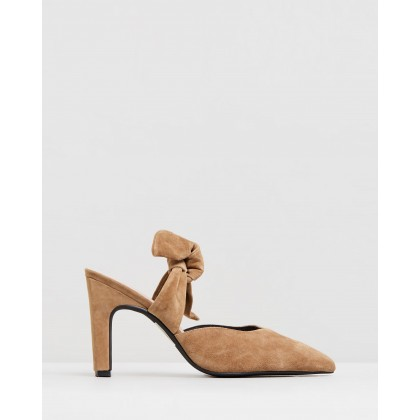 Missy Mules Tobacco Suede by Sol Sana