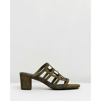 Spencer Mules Moss Suede by Sol Sana
