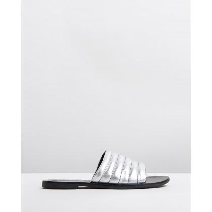 Toro Slides Metallic Silver by Sol Sana