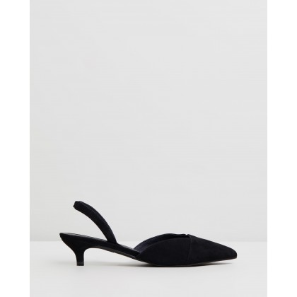 Kate Heels Black Suede by Sol Sana
